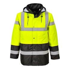 Portwest S466 Kontraszt Traffic kabát (SÁRGA/FEKETE, XL)