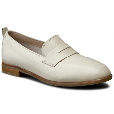 Clarks Félcipő CLARKS - Alania Belle 261230404 White Leather