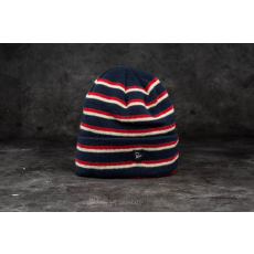 by Parra Stripes Beanie Navy Blue