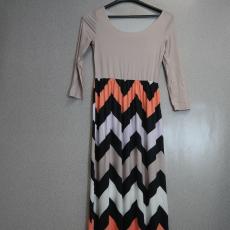 Hosszú nyári mintás ruha - Egy méret
