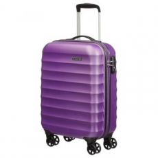 SAMSONITE Spinner American Tourister by Samsonite Palm Valley gurulós bőrönd, Lila, 55cm (02G-91001)