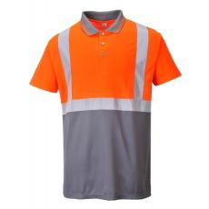 Portwest S479 Kéttónusú pólóing (NARANCS/SZÜRKE M)