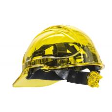 PV64 - Peak View Plus gyorsbeállítós, átlátszó védősisak - sárga