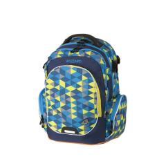 WALKER Hátizsák-42114-070- sárga-kék háromszög. 4 részes WIZZARD WALKER