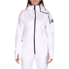 Adidas PERFORMANCE végig cipzáros pulóver ZNE Hoody White, női, fehér, poliészter, L