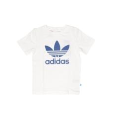 ADIDAS ORIGINALS rövidujjú felső White/Eqtblu, gyerek, fehér, pamut, 128