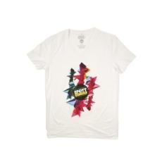 Efott rövidujjú felső T-Shirt FFI, férfi, fehér, pamut keverék, L