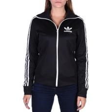 Adidas végig cipzáros pulóver Europa TT, női, fekete, poliészter, S