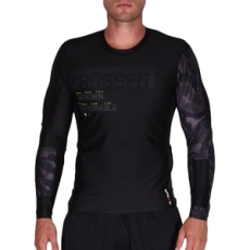 Reebok fitness felső RCF LS Compression Black, férfi, fekete, poliészter, L
