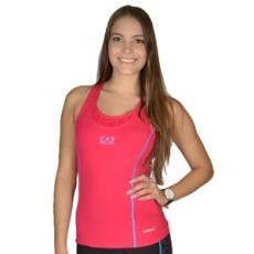 EmporioArmani fitness felső Women's Knit Tank, női, rózsaszín, poliamid, L