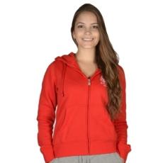 Russel Athletic Végig cipzáros pulóver, Russel Athletic Russell Athletic, női, piros, pamut keverék, L