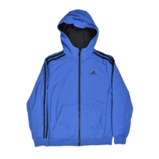 Adidas PERFORMANCE végig cipzáros pulóver YB ESS 3S FZH B, fiú, kék, pamut, 152