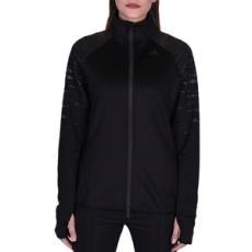 Adidas végig cipzáros pulóver Performancetrac, női, fekete, pamut, L
