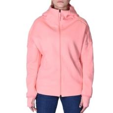 Adidas végig cipzáros pulóver ZNE Hoody, női, bordó, pamut keverék, L