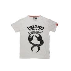 Dorko rövidujjú felső Sziget T-Shirt, férfi, fehér, pamut keverék, L