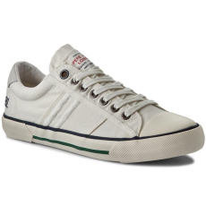 Pepe Jeans Tornacipő PEPE JEANS - Serthi Washed PMS30333 White 800