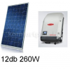 3,1 kWp rendszer Korax napelem + Fronius inverter