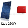 3,1 kWp rendszer Canadian napelem + SMA inverter