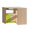 Sarok PC asztal, kőrisfa/zöld, EGO L11