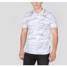 Alpha Industries TWIN STRIPE CAMO POLO - white camo