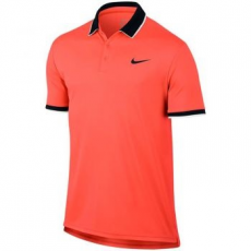 Nike Court Dry Team férfi póló, Hyper Orange/Black, L (830849-877-L)