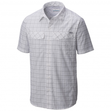 Columbia Silver Ridge Multi Plaid S/S Shirt Ing D (1441651-q_103-White)
