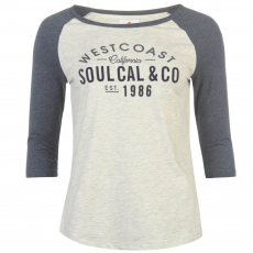 Soul Cal Póló SoulCal Deluxe Raglan Baseball női