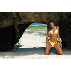 marko Bikini Agnes Bianco M-398 fehér/sárga