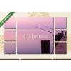 Képáruház.hu Premium Kollekció: Beautiful sunset in lake Balaton(135x80 cm, W01 Többrészes Vászonkép)