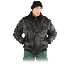 BOMBER B, Fekete színű bélelt téli kabát