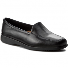 Clarks Félcipő CLARKS - Georgia 002547937 Black Leather