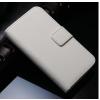 iPhone 4 4S műbőr flip pénztárca tok fehér színben ajándékokkal