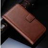 iPhone 5 5S műbőr flip pénztárca tok barna színben ajándékokkal