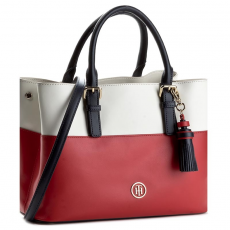 Tommy Hilfiger Táska TOMMY HILFIGER - Summer Cf Love Small Tote Colourblock AW0AW04048 901
