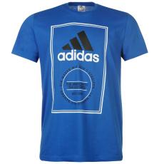 Adidas Double Box férfi póló kék L