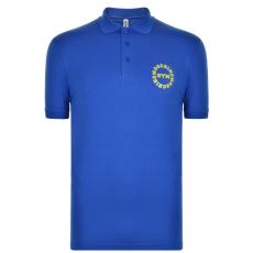 Moschino Motif férfi galléros póló kék S