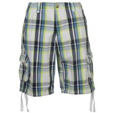 SoulCal Férfi kockás zsebes rövidnadrág fehér M