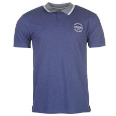 SoulCal Peached férfi galléros pamut póló kék XL