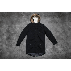 Urban Classics Sherpa Lined Cotton Parka Black