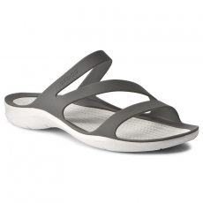 CROCS Papucs CROCS - Swiftwater Sandal W 203998 Smoke/White