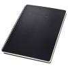 SIGEL Spirálfüzet, exkluzív, A4, kockás, 80 lap, keményfedeles, SIGEL