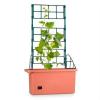Waldbeck Power Planter virágcserép, 75x130x35cm, rács indás növényekre, 3 emelet, PP téglaszín