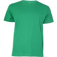 KEYA unisex környakas pamut póló, kelly green