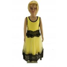 Sárga alkalmi lányka ruha