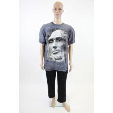 Abraham Lincoln-os 3D-s férfi pamut póló