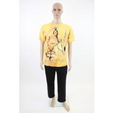 Indián fejes 3D-s férfi pamut póló