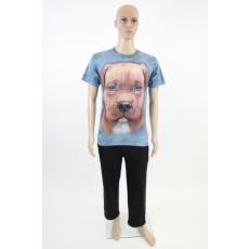 Kutyás- férfi pamut póló 3D-s