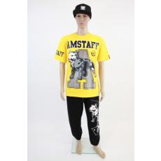 Amstaff sárga, feliratos férfi póló