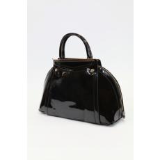 Fekete lakk női táska (ridikül)