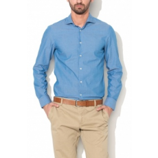 United Colors of Benetton Kék Kockás Férfi Slim Fit Ing, M (5TM65Q3G8-902-M)